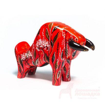 Символ 2021 года «Бык» БК4 2 500Р РАЗМЕРЫ 180*130*60 Год быка диктует свои правила — алый бык с цветочным орнаментом станет ярким и брутальным предметом для Вашего интерьера.
